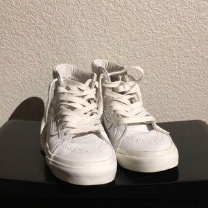 Vans White High Top Sneakers